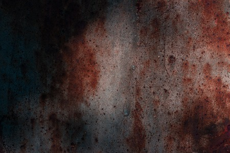mysterious dark metal texture with rust and patterns beautiful background for design Stock Photo