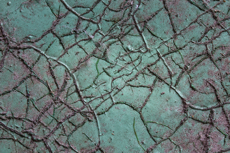 mysterious wooden texture covered with paint and exciting cracks grunge background for design Banco de Imagens