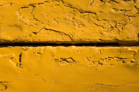 texture of wooden boards covered with chapped orange paint grunge background for design