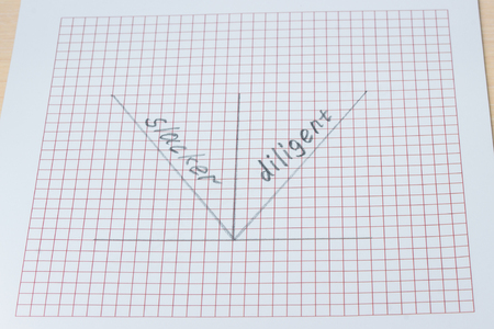 positive and negative growth graph drawn by a simple pencil on a piece of paper the concept of business and lifestyle