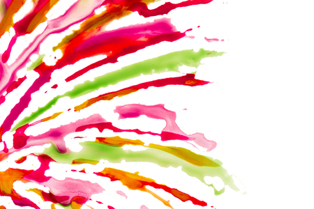 exciting patterns bright and colorful lines drawn in watercolor on a white background artistic abstraction