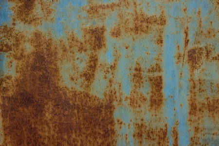 sheet metal covered with paint and rust various patterns background for design Banco de Imagens