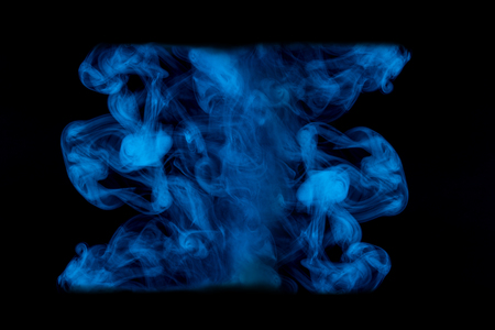 blue mysterious pattern mystic cigarette vapor on a dark background ghostly abstraction for design