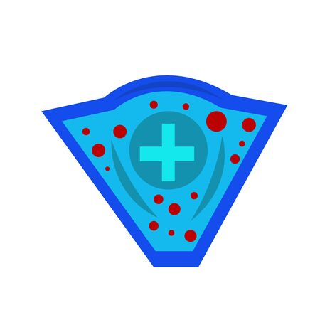 medical shield with a cross pattern for design health care concept