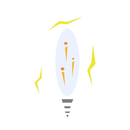lightbulb with lightning patterns around the concept of idea and inventions