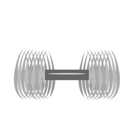 dumbbell sports logo on a white background accessory for physical activity healthy lifestyle concept Ilustracja