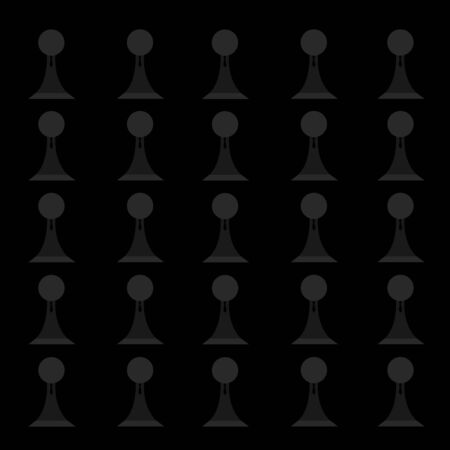 chess pawns in ties on a black background concept of board games and business wallpaper for design
