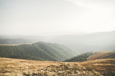 The majestic mountain peaks. Beautiful landscape view