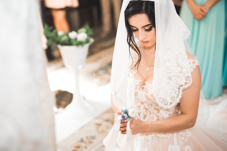 Beautiful bride get married in a church