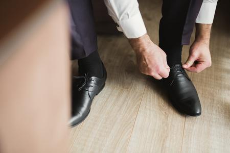 Satz von Mans Mode Schuhe und Accessoires