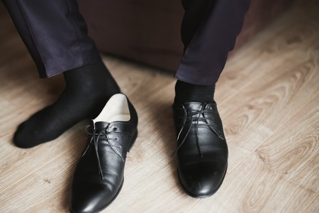 Set of mans fashion shoes and accessories