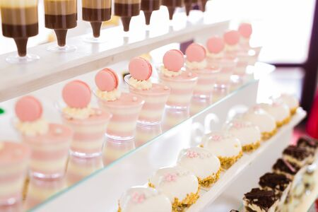 Buffet with a variety of delicious sweets, food ideas, celebration. Stock fotó