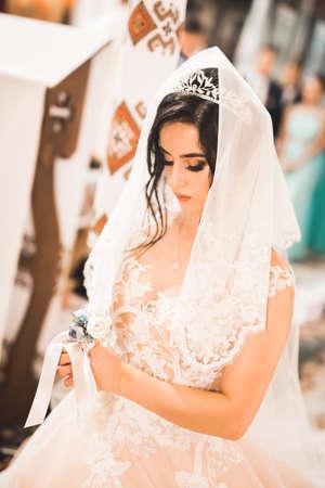 Beautiful bride get married in a church