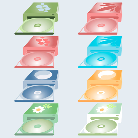 drives: Icons of the eight drives of different colors