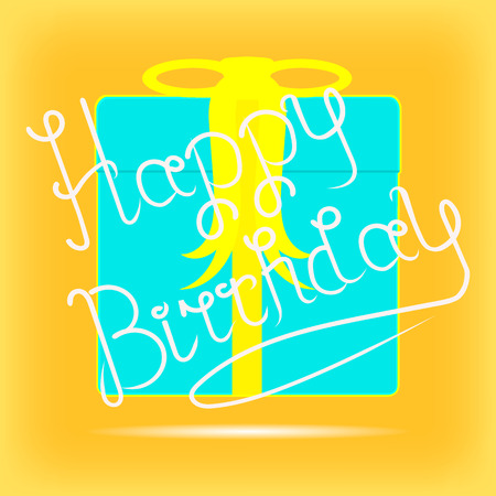 felicitation: Bright yellow template birthday greeting