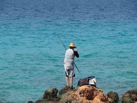 Fisherman on the Mediterranean coast