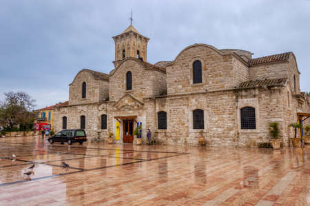 The Cathedral of St. Lazarus in Larnaca after a summer rain. It is a late 9th-century Church. Larnaca, Cyprus-March 2019
