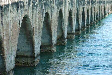 florida keys bridge water indastrial photo