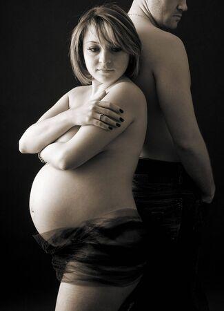 Pritty j�venes embarazadas mujeres desnudas Foto de archivo - 4208162