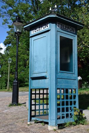 old pay phone in Skansen  Stokholm  photo
