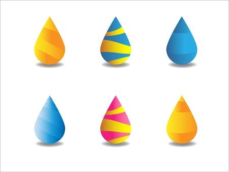 Set of 6 drops Illustration