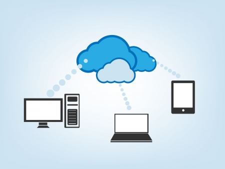 sharing information:  Cloud Drive  Illustration