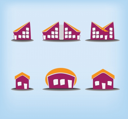 Houses icons Stock Vector - 15385333