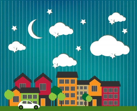 Little town Stock Vector - 15399186