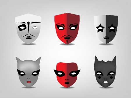 comedy disguise: Theatrical masks  Illustration