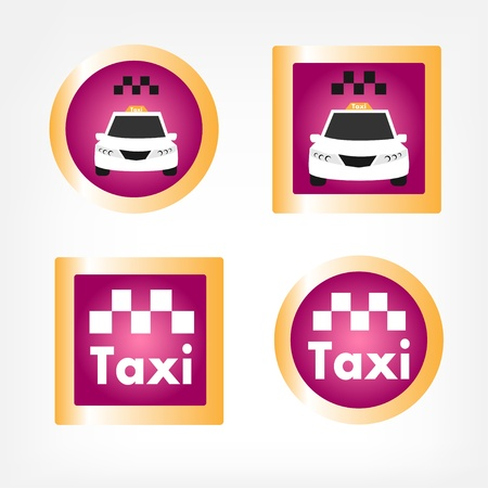 Set of various taxi icons Stock Vector - 15531969