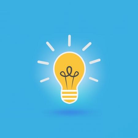 Bulb light idea Illustration