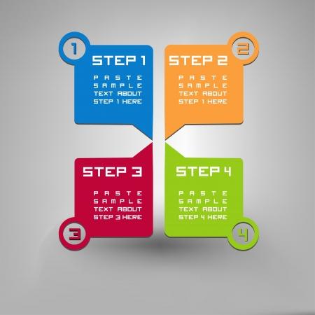 Vier stappen Vector Illustratie