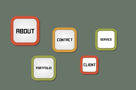 Retro Style Website menu Stock Vector - 15661750