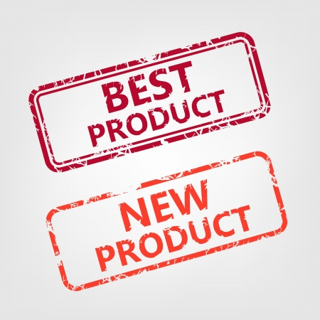 old mark: Best product and New product rubber stamp