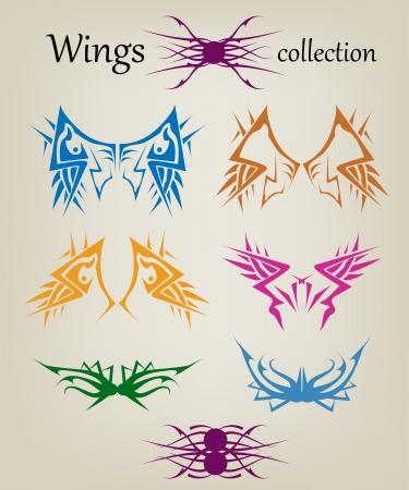 Wings  Elements   Illustration
