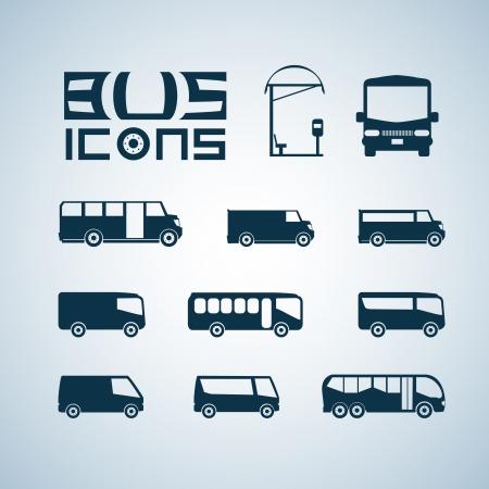 parada de autobus: Iconos de autobús