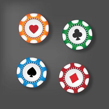Gambling chips Stock Vector - 17242889