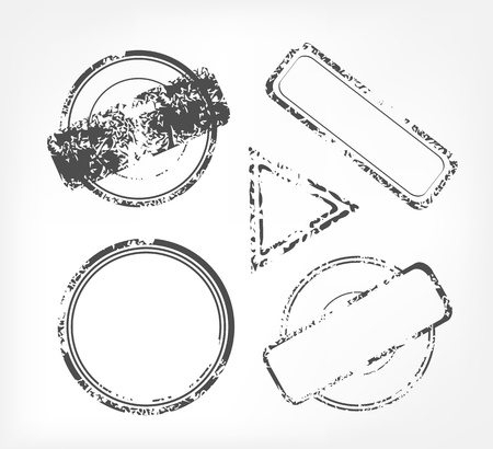 control de calidad: Grunge sello de goma