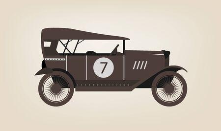antique car: Vector vintage car
