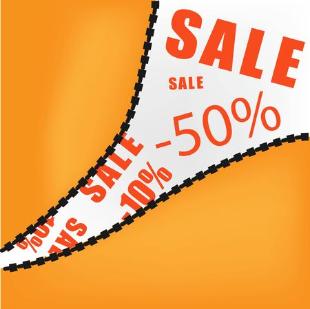 Sale opening background  Illustration