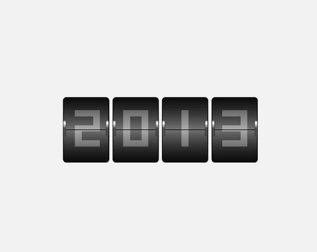2013 New Year Odometermbers   Vector