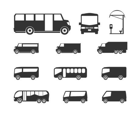 greyhound: Bus icons Illustration