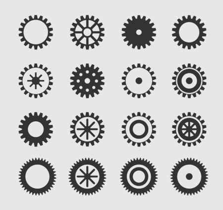 dag: Vector black gearwheel
