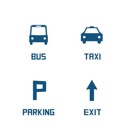 parking sign: Information panel  Illustration