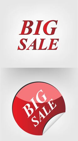 Big Sale  sticker Stock Vector - 17254390