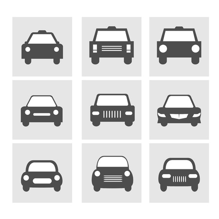 Car icons set Stock Vector - 17477747