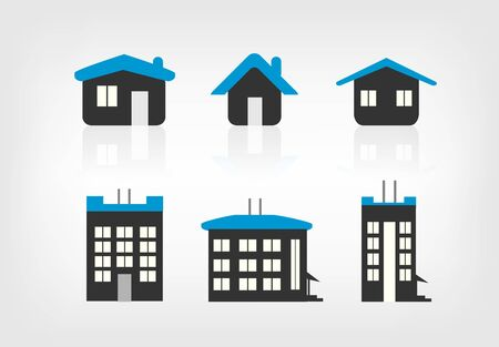 Set of 6 house icon variations Stock Vector - 17477737
