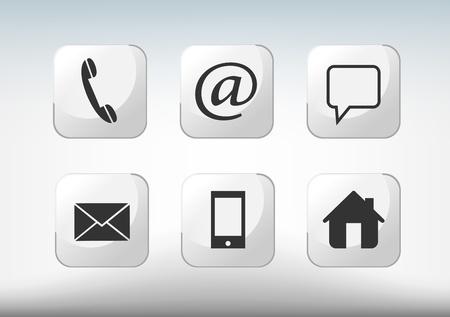 iconos contacto: P�ngase en contacto con iconos