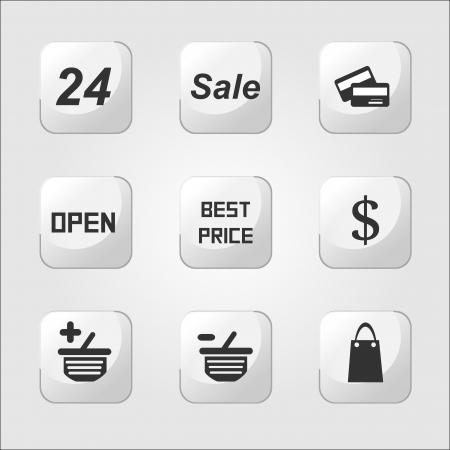 Shopping icons Stock Vector - 17477760