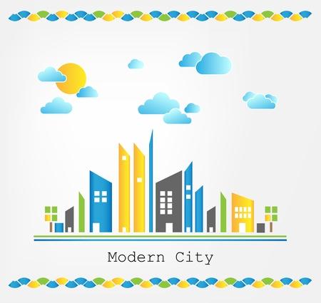 Modern city landscape Stock Vector - 17477753